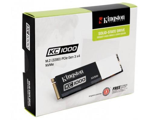 Твердотельный диск 960GB Kingston SSDNow KC1000, M.2, PCI-E 3.0 x4, MLC [R/W - 2700/1600 MB/s]